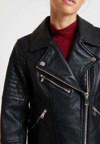 River Island Petite - CATO JACKET - Faux leather jacket - black - 5