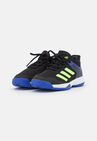 adidas Performance - UBERSONIC 4 UNISEX - Buty tenisowe uniwersalne - core black/signal green/sonic ink - 1
