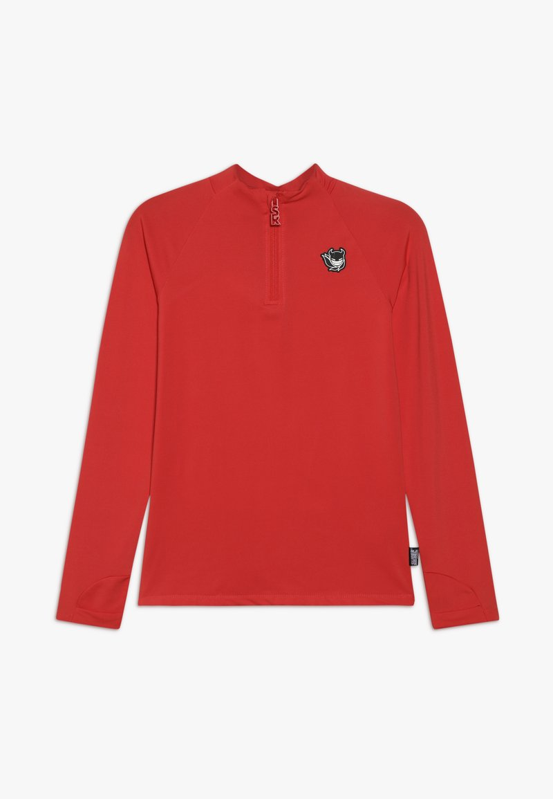 SuperRebel - BOY GIRLS SKI PULL BADGE - Sports shirt - neon red