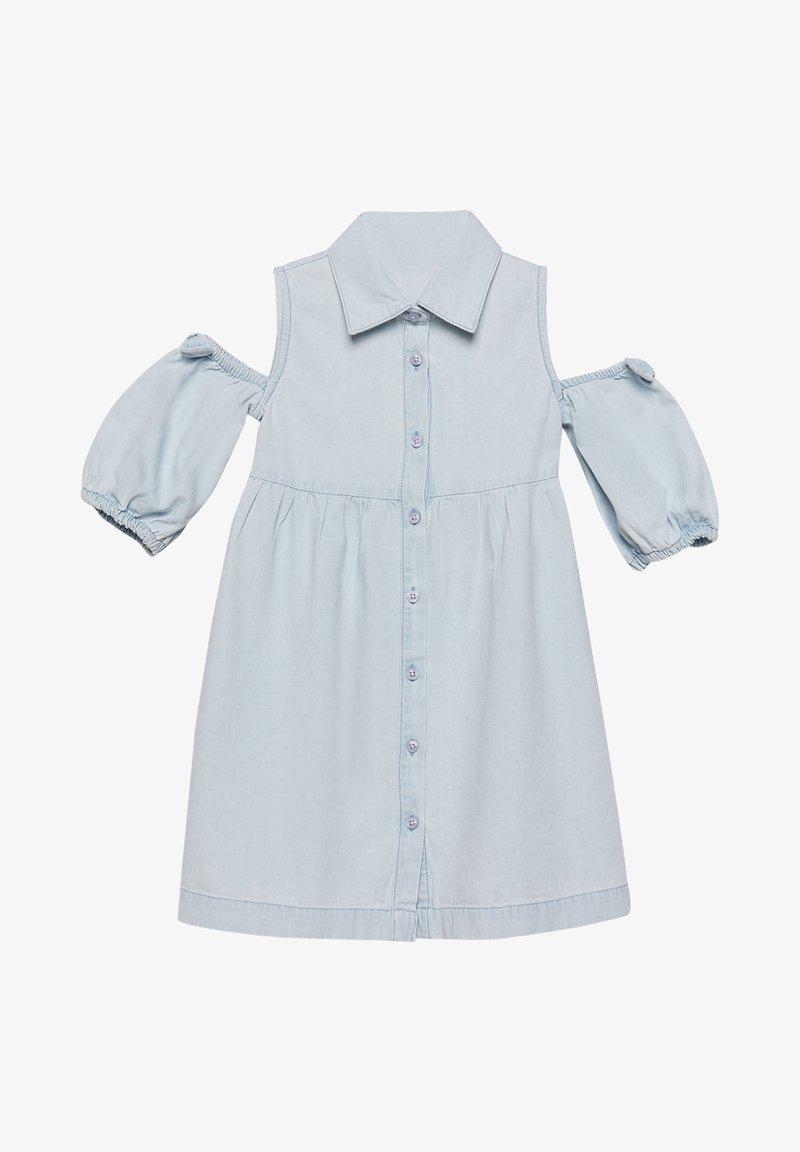 Esprit - MIT CUT-OUT-SCHULTERN, BAUMWOLLE - Denim dress - light indigo denim