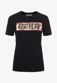 Versace Jeans Couture - T-shirt con stampa - nero - 4