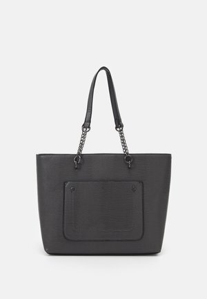 SLIP POCKET CHAIN HANDLE - Handbag - dark grey lizard/gunmetal