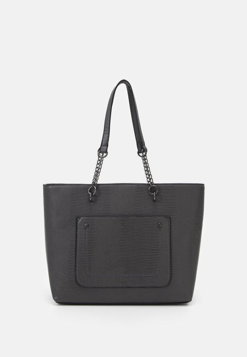 Dorothy Perkins - SLIP POCKET CHAIN HANDLE - Handbag - dark grey lizard/gunmetal