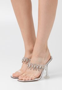 BEBO - MADEIRA - Pantofle na podpatku - clear/silver metallic - 0