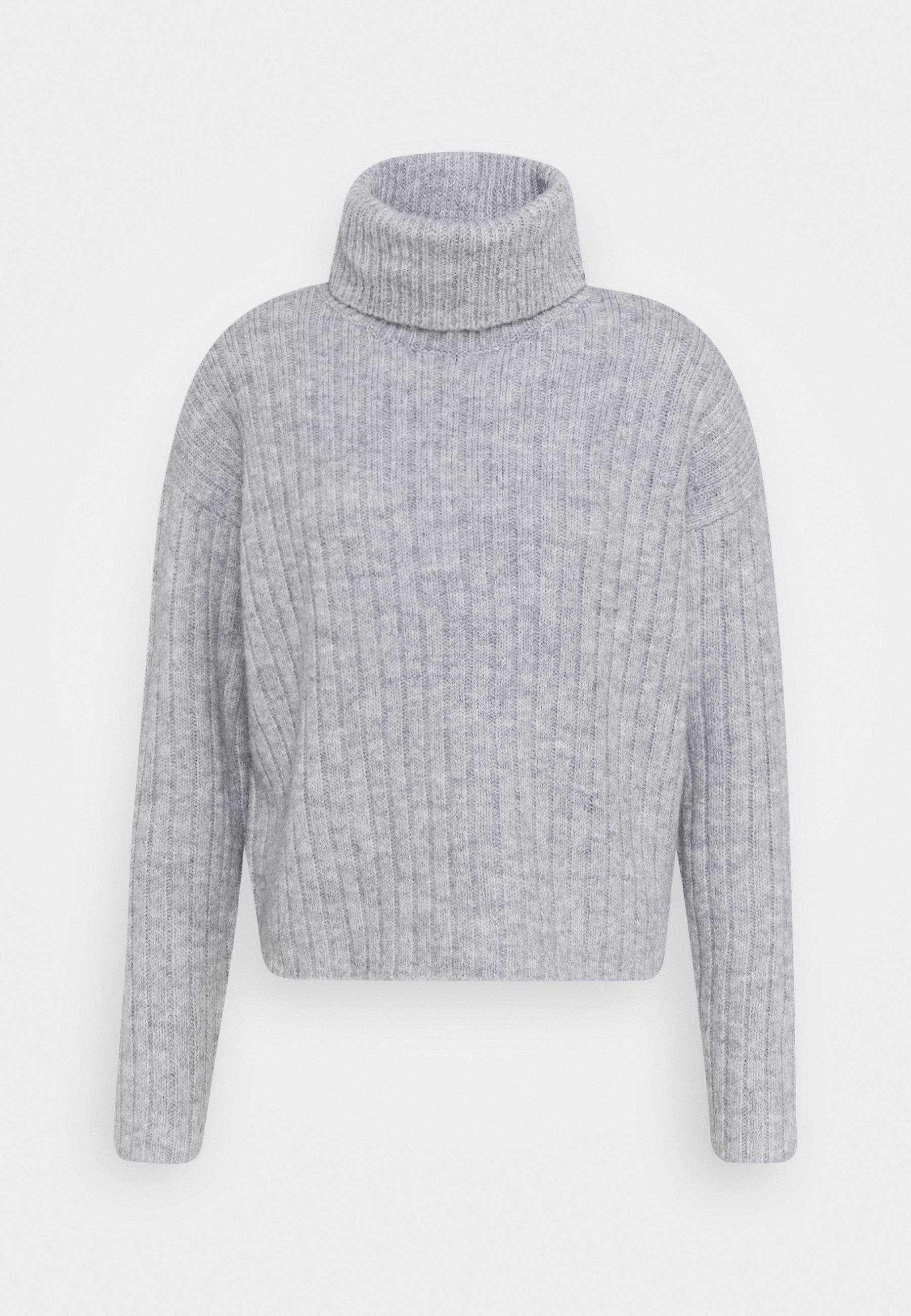Damen Strickpullover - light grey