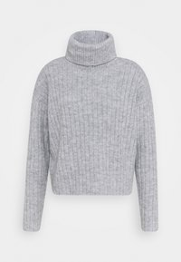 Even&Odd - RIBBED BOXY TURTLE NECK - Jersey de punto - light grey - 0