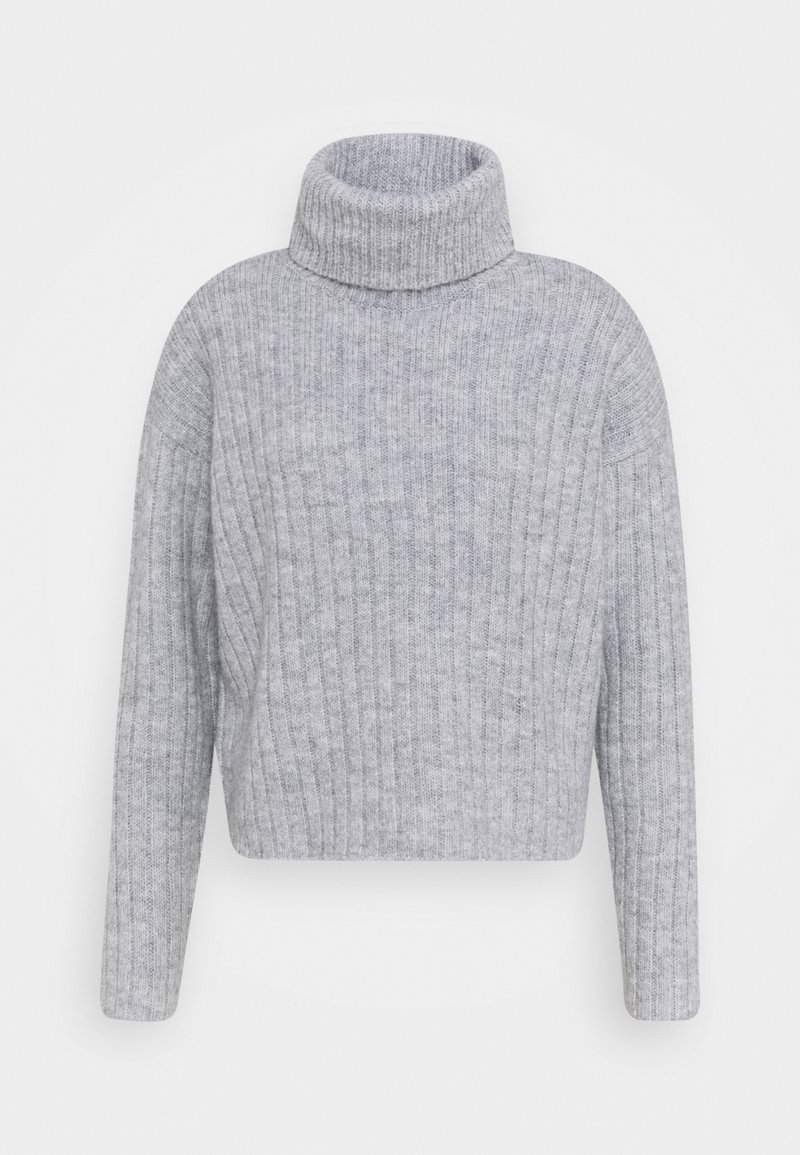 Even&Odd - RIBBED BOXY TURTLE NECK - Jersey de punto - light grey