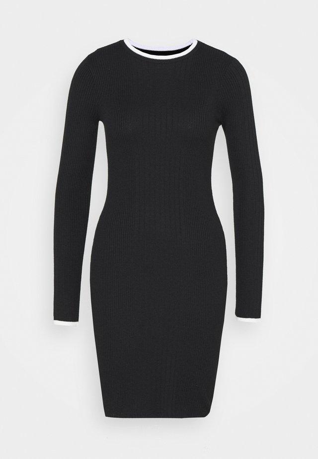 DRESS - Fodralklänning - black/off white