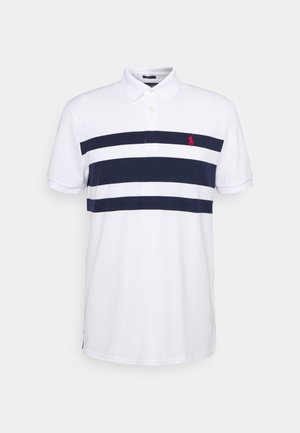 SHORT SLEEVE - T-shirt z nadrukiem - white/french navy