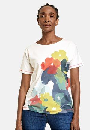 ARM MIT FRONTPRINT GOTS - T-Shirt print - blau/ecru/weiss druck