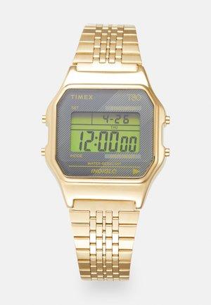 T80 UNISEX - Digitaalikello - yellow gold-coloured