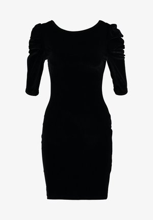 PUFF SLEEVE BODYCON - Shift dress - black