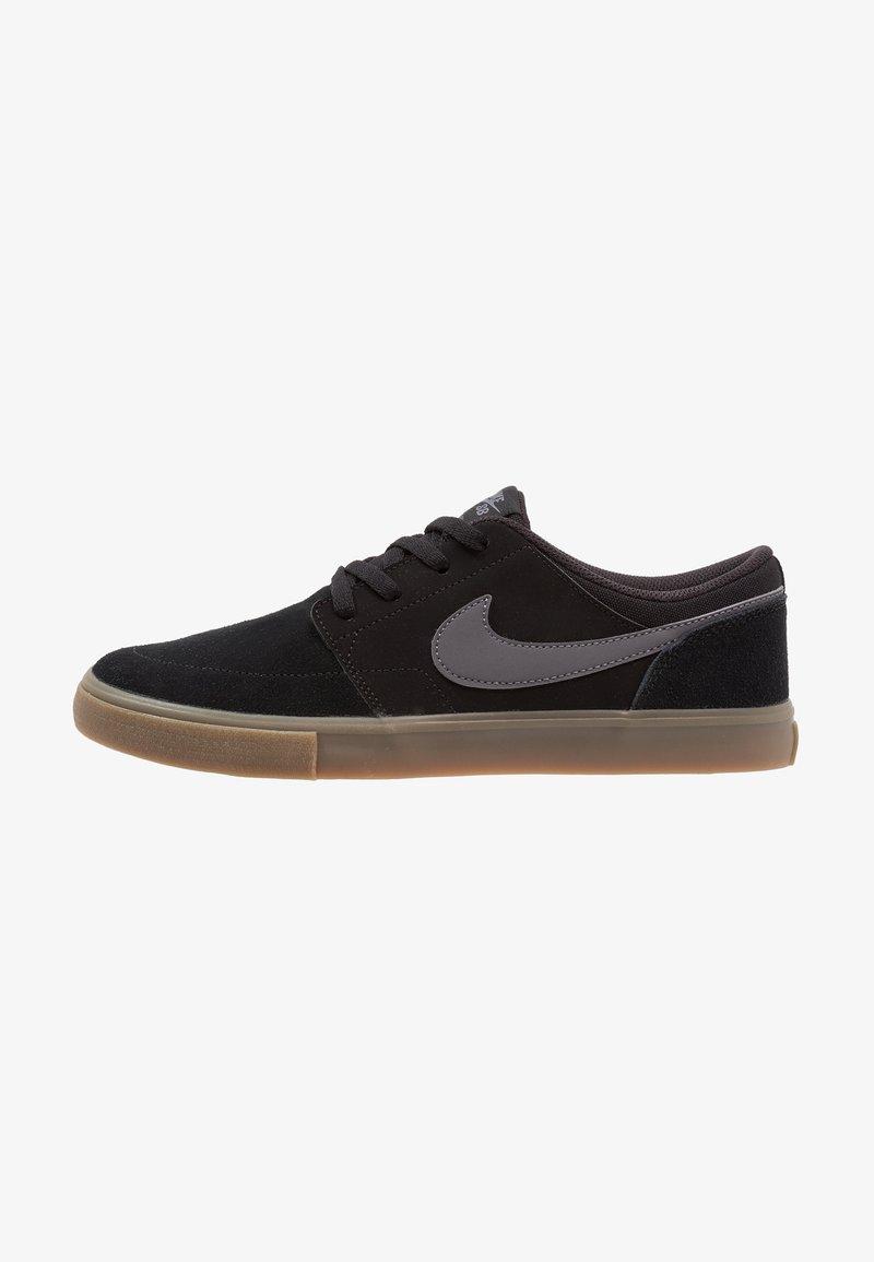 Nike SB - PORTMORE II SOLAR - Obuwie deskorolkowe - black/light brown/dark grey
