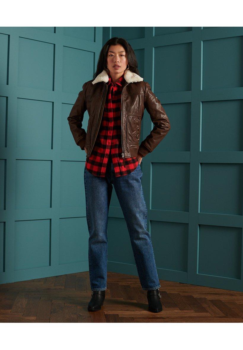 Women AVIATOR FLIGHT - Leather jacket