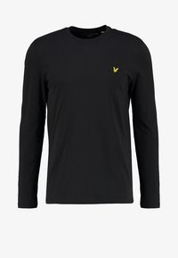Lyle & Scott - CREW NECK PLAIN - Långärmad tröja - true black - 4