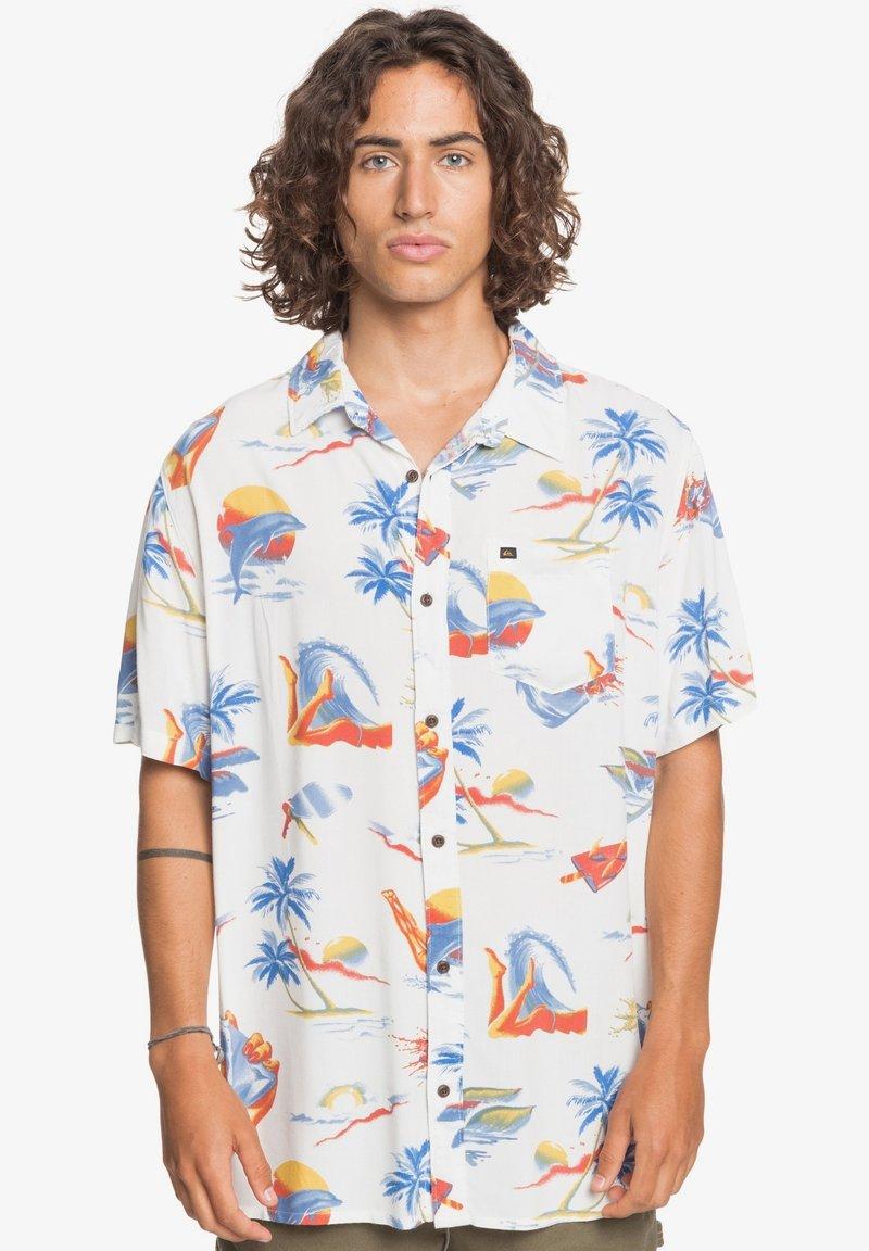 Quiksilver - Shirt - snow white tropical print pack