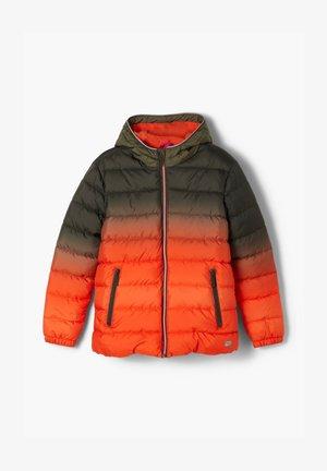 Winter jacket - khaki/orange gradient