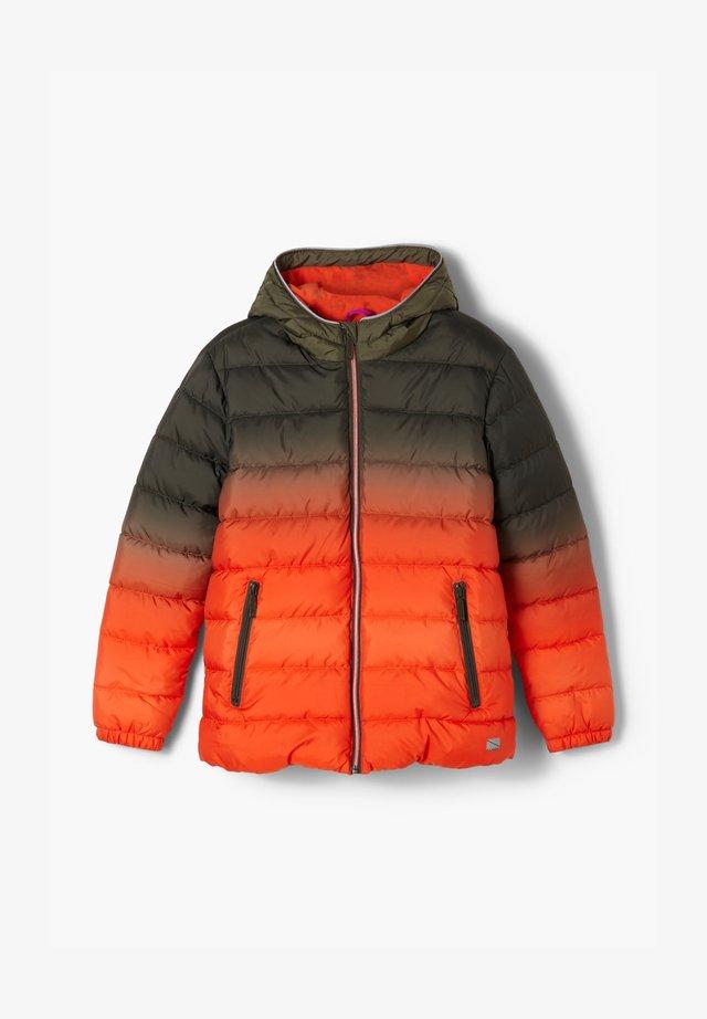 Winterjacke - khaki/orange gradient