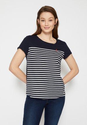 STRIPE SLUB TEE - T-shirt med print - sky captain blue