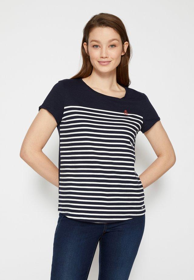 STRIPE SLUB TEE - T-shirt imprimé - sky captain blue