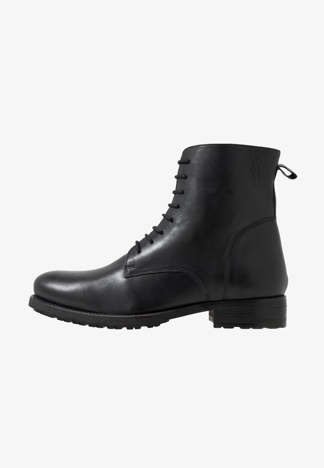 MILITARY BOOT - Lace-up ankle boots - black