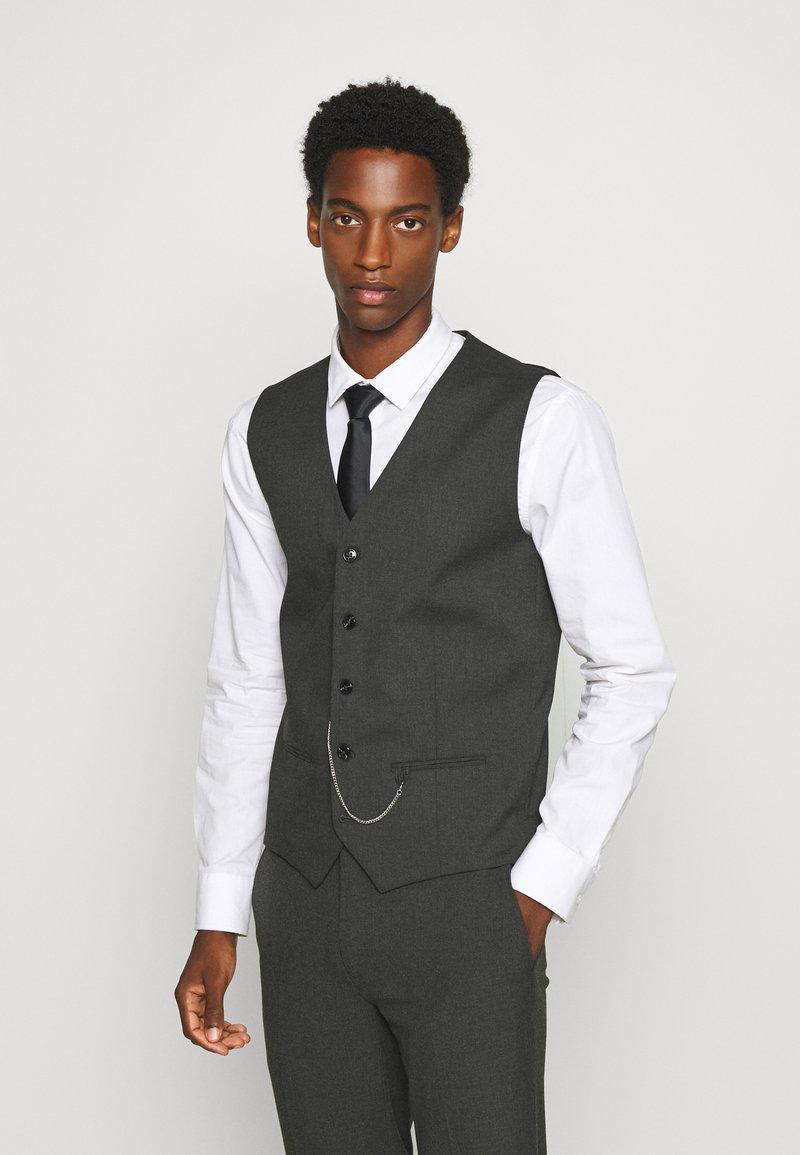 Jack & Jones PREMIUM - JPRBLAKIV FRANCE WAISTCOAT - Vest - dark grey