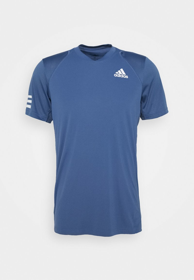 adidas Performance - CLUB TEE - T-shirt med print - blue/white