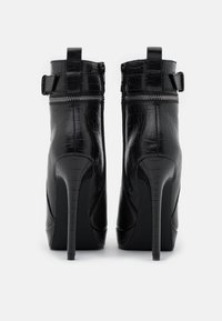 Even&Odd - LEATHER - High heeled ankle boots - black - 3