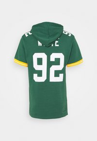 Mitchell & Ness - GREEN BAY PACKERS REGGIE HOODED SHORT SLEEVE - Article de supporter - green/white - 1