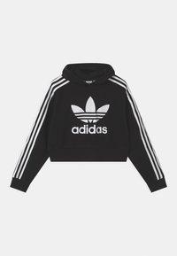 adidas Originals - CROPPED HOODIE - Sweatshirt - black/white - 0