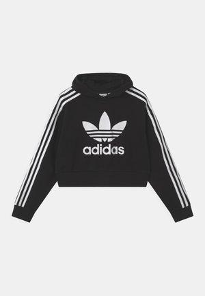 CROPPED HOODIE - Sweatshirt - black/white