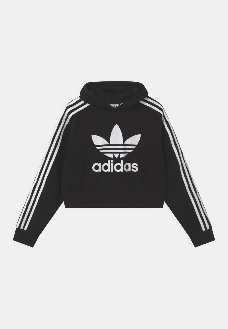 adidas Originals - CROPPED HOODIE - Sweatshirt - black/white
