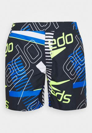 VINTAGE PARADISE WATERSHORT - Swimming shorts - true navy/white/fluo yellow/bondi blue