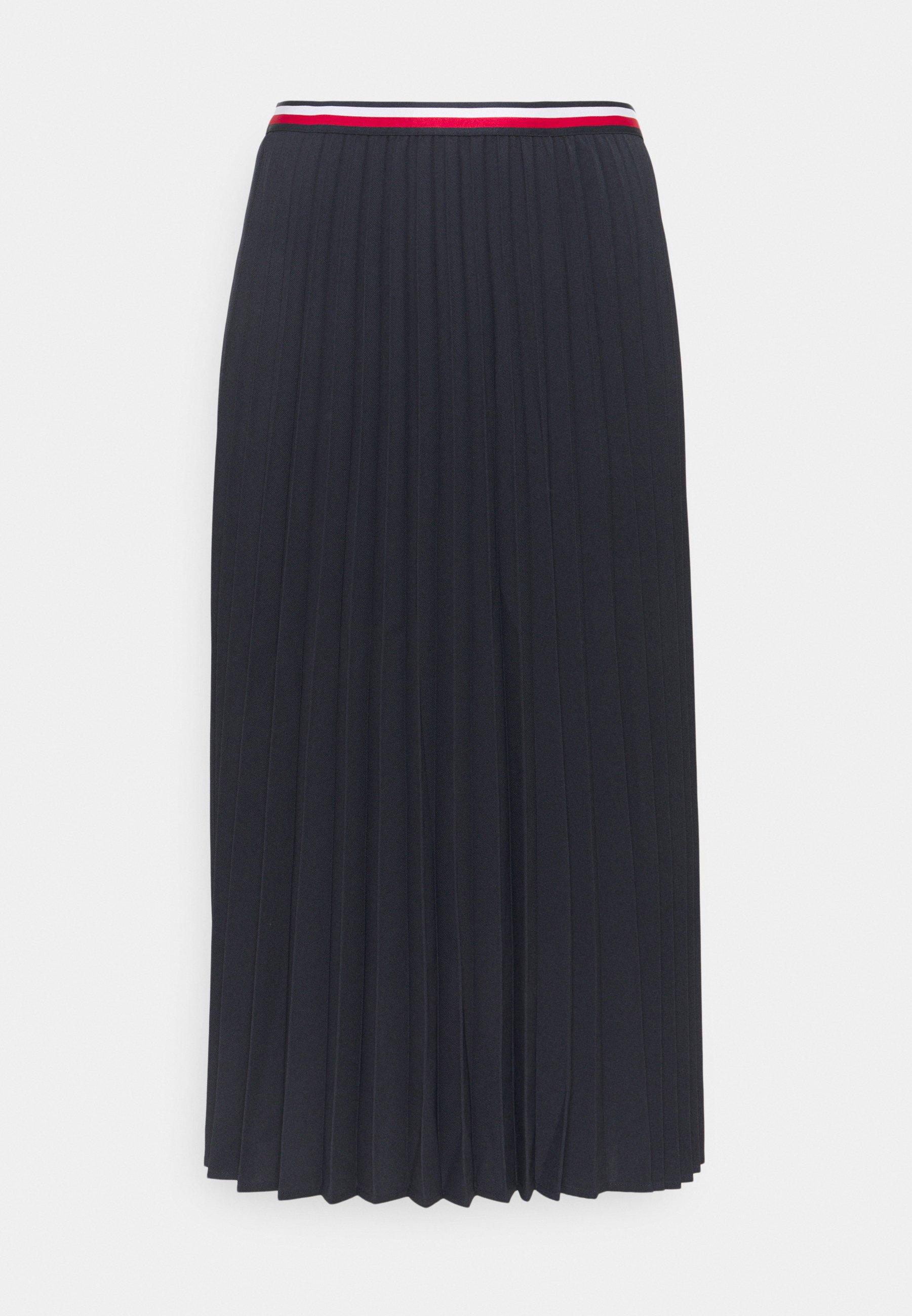 Women PLEATED MIDI SKIRT - A-line skirt