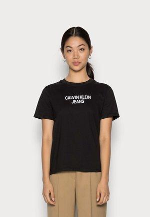EASY INSTITUTIONAL TEE - Print T-shirt - black