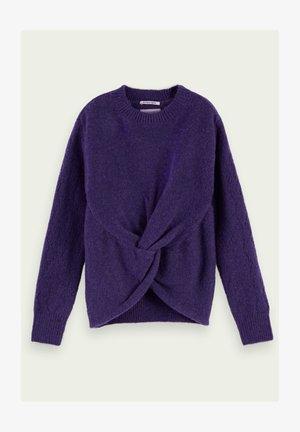 Trui - midnight purple melange