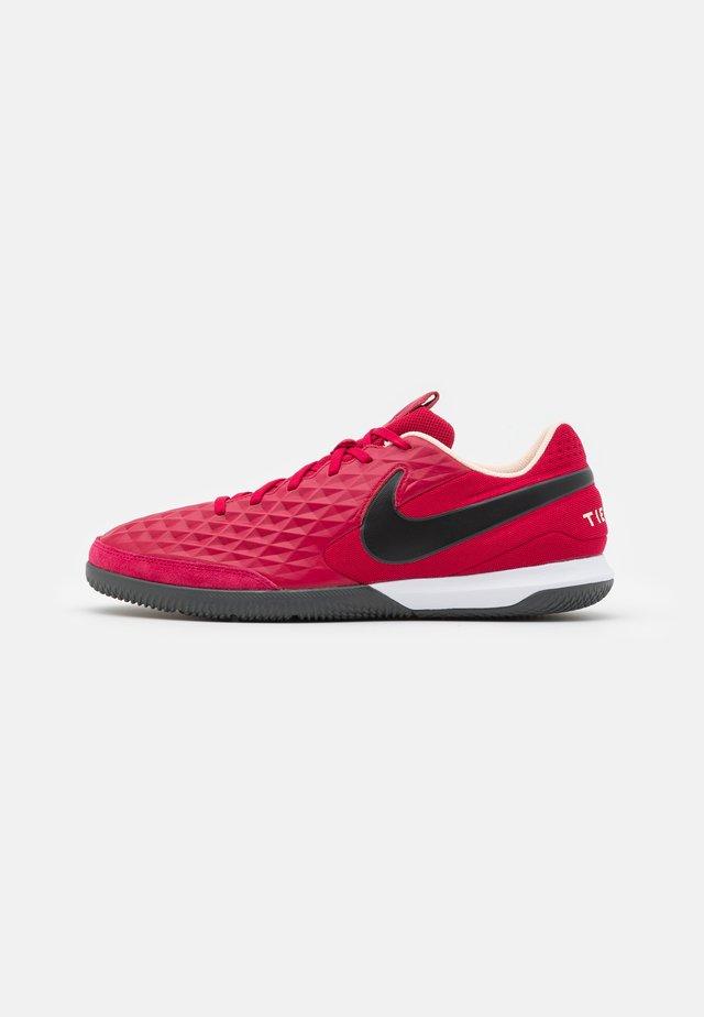 TIEMPO LEGEND 8 ACADEMY IC - Indoor football boots - cardinal red/black/crimson tint/white