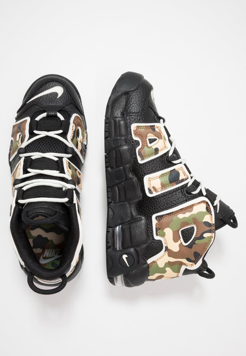 Nike Sportswear - AIR MORE UPTEMPO QS - Sneakers alte - black