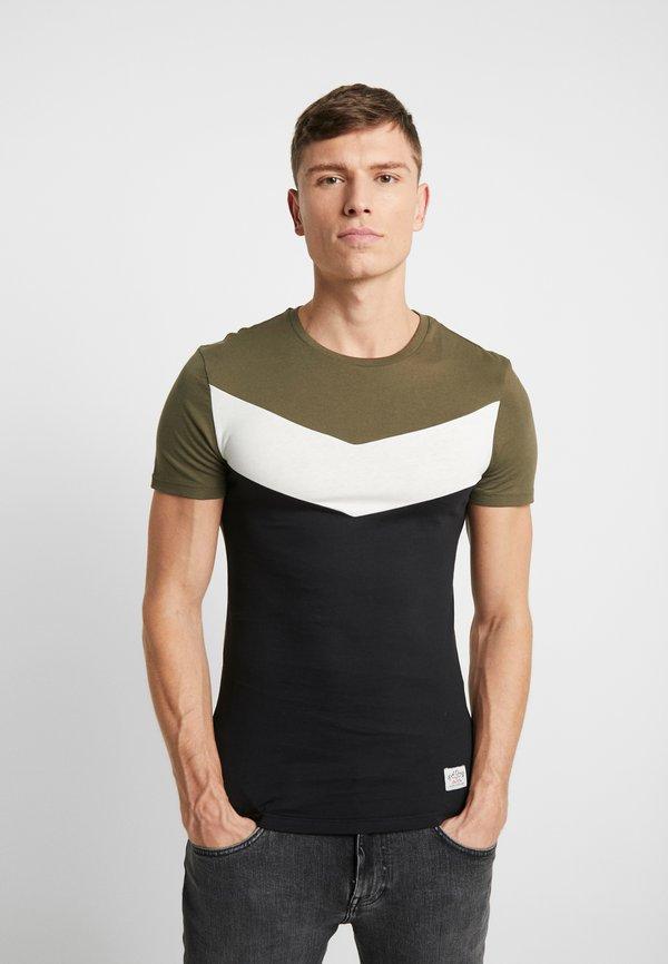 Pier One T-shirt basic - green/black/zielony Odzież Męska UGIH