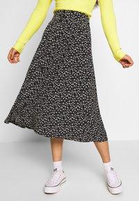 Monki - SIGRID SKIRT - A-line skirt - black/white - 0