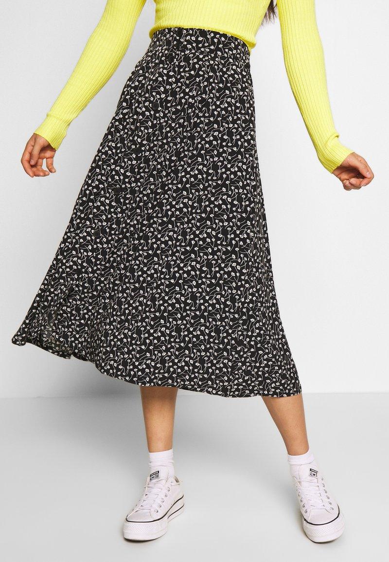 Monki - SIGRID SKIRT - A-line skirt - black/white