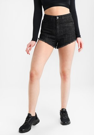 LADIES HOTPANTS - Denim shorts - black washed