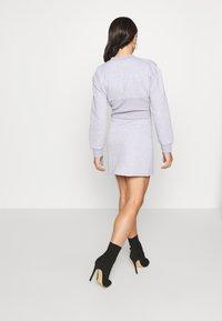 Missguided Petite - CORSET DRESS - Vestido informal - grey marl - 2