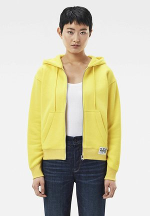 PREMIUM CORE ZIP THROUGH - Zip-up hoodie - bright yellow