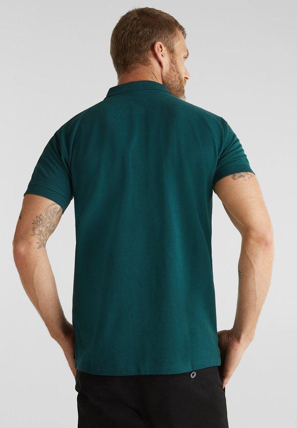 Esprit OCS - Koszulka polo - dark green/ciemnoszary Odzież Męska SXPH