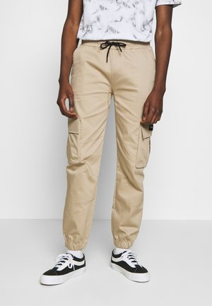 DAILY BASIS PANTS - Cargobyxor - stone