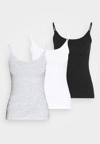 Anna Field Petite - 3 PACK - Top - black/ white/grey - 0
