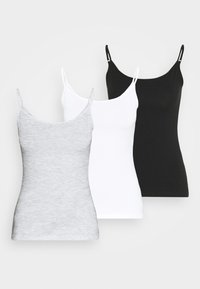 3 PACK - Top - black/ white/grey