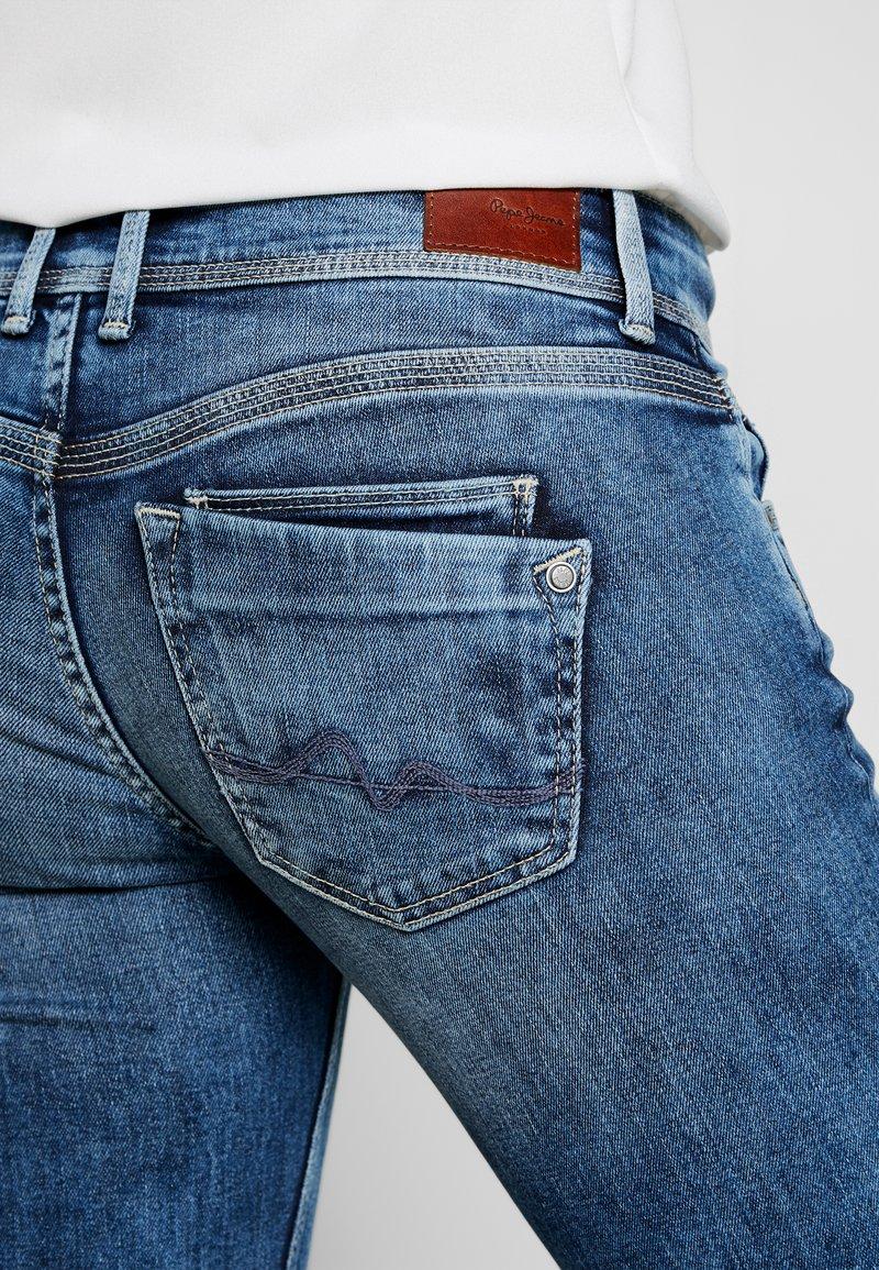 Pepe Jeans Holly Straight Leg Jeans Stone Blue Denim Zalando Co Uk