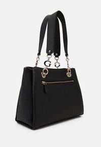 Guess - CHAIN GIRLFRIEND SATCHEL - Handtasche - black - 2